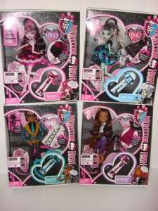 MONSTER HIGH Sweet 1600 Set Clawd Draculaura Frankie Clawdeen LOT of 4