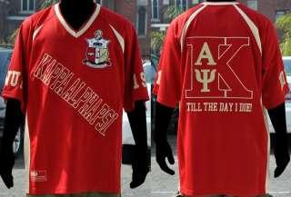 Red Short Sleeve Kappa Alpha Psi Football Jersey Nupe Football Jersey