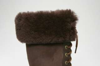 UGG Adirondack Tall Womens Brown Sheepskin Waterproof Snow Boot Size 5