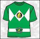 Mighty Morphin Power Rangers Green Costume T Shirt