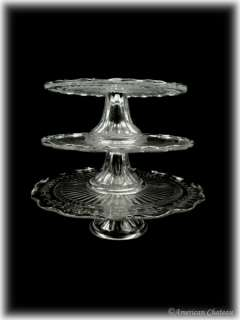 pedestal cake stands this set includes 3 separate cake plates in 3