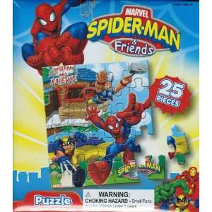 Spider Man & Friends 25 Piece Puzzle Set Toys & Games