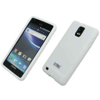 for Samsung Infuse 4G White Case Skin+SP+Car Charger 886571122019