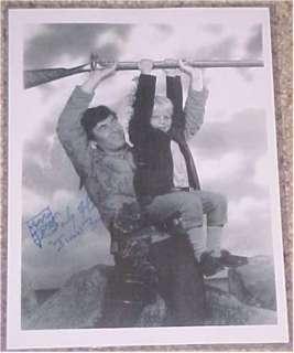 Darby Hinton Fess Parker Daniel Boone Signed 8.5x11 COA