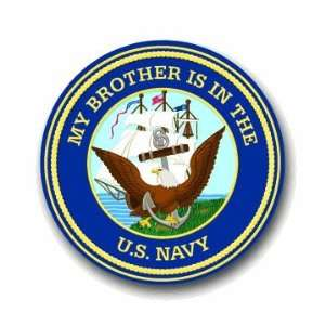 US Navy Pride Brother Decal Sticker 3.8