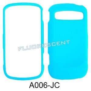 FLUORESCENT LIGHT BLUE CASE COVER SKIN FACEPLAT: Cell Phones