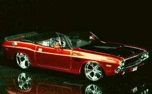 1970 Dodge Challenger R/T Convertible PRO RODZ Diecast 124 Metalic