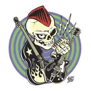 Vince Ray rock music skeleton STICKER rock n roll