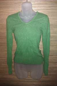 Apt. 9 womens green cashmere v neck sweater size Small (2371)