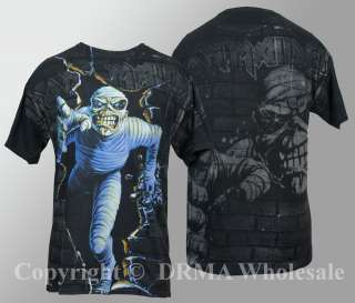 Authentic IRON MAIDEN Eddie Mummy Break ALLOVER T Shirt S M L XL NEW