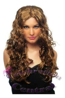BEYONCE STYLE LONG CURLY WIG FANCY DRESS