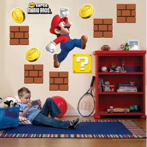 Super Mario Bros. Giant Wall Decals  Toys & Games