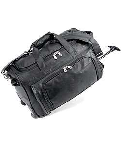 Status Koskin Leather 20 inch Carry On Rolling Duffel Bag