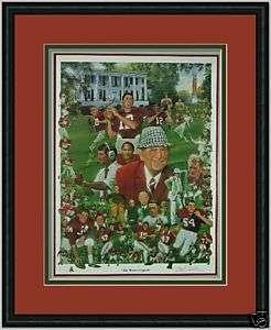 Alabama Football The Bama Legend framed print