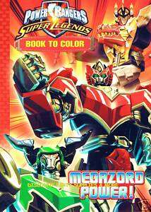 Power Rangers Megazord Power Coloring Book Party Favor