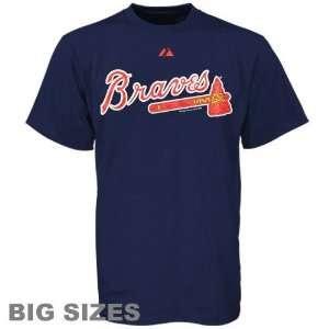 Atlanta Brave T Shirt  Atlanta Braves Navy Blue Big Sizes