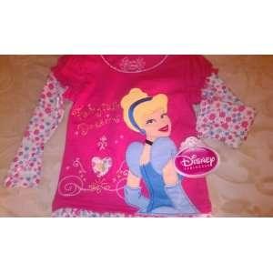 Disney Princess Cinderella Fairytale Dreams Pink Longsleeve Shirt 2T
