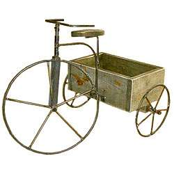 Antique Tricycle Planter  Overstock