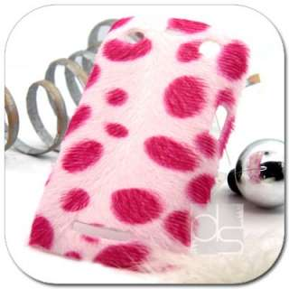 Pink Cheetah Velvet Felt Hard Back Skin Case Cover  Kindle Fire