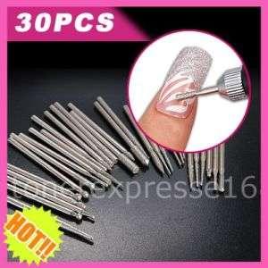 30pcs Professional Nail Art Drill Bits Polishing Pen