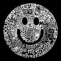 Los Angeles Pop Art Mens Smiley Face Hoodie