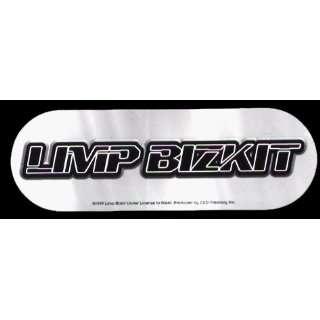 Limp Bizkit   Grey, Black & White Logo on Oval   Sticker / Decal