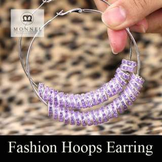 BK21 HOT Basketball Wives Circle Hoops Earring Fashion Jewelry Beads
