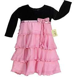 JoJo Designs Baby Girls Black and Pink Dress