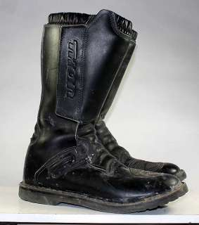 THOR MOTORCYCLE/DIRT BIKE/MOTOCROSS MENS BLACK LEATHER BOOTS sz 11