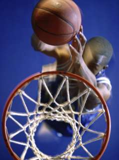 High Angle View of Person Shooting Hoops Photographic Print at