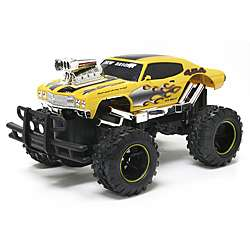 New Brigh 115 Scale Yellow Monser Muscle Chevy Malibu RC Car