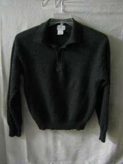 Linea Uomo 100% Merino Wool Polo Sweater Medium