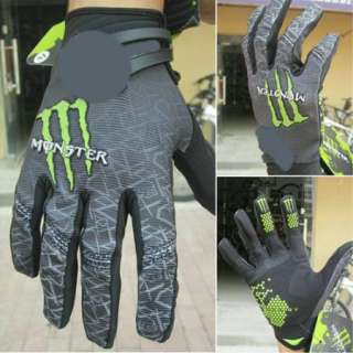 Cycling Bike Bicycle Monster Sports Full Finger Gloves Size M/L/XL