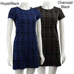 Bailey Blue Womens Geometric Print Dress