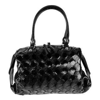 Big Buddha Womans Purse Woven Darcie Handbag ~ Black