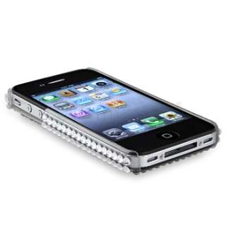 Silver Rhinestone Bling Case Cover For iPhone 4 4S 4G 4GS