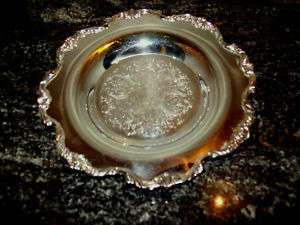 WALLACE ROYAL ROSE ROUND BUTTER DISH UNDERPLATE SLVPL