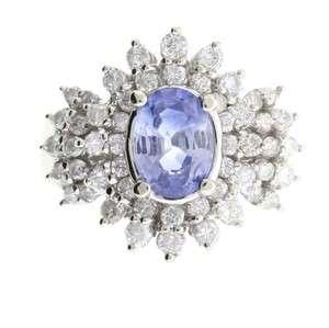 Gold Ladies Natural Blue Sapphire 1.33ct Diamond 1.02 Carat 5.8 grams