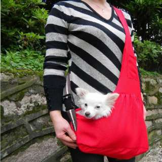 Red Oxford Cloth Sling Pet Dog Cat Carrier Bag 3 Size