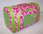 NWT Small Lime Damask Tote Cat Dog Puppy Pet Carrier