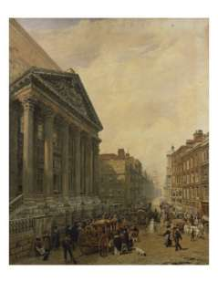 The Mansion House from Poultry Looking Down Cheapside Towards St. Mary