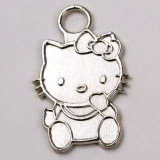 30 PC TIBETAN SILVER HELLO KITTY CHARM PENDANT FINDINGS