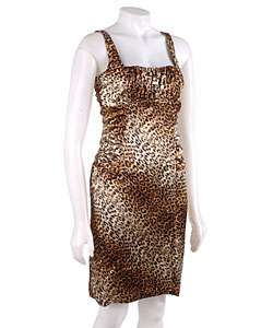 Essentials by A.B.S Sheath Leopard Print Dress