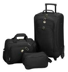 Travelers Club Euro Value II 3 piece Carry on Luggage Set