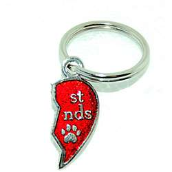 Best Friend Metallic Red Small Charm Collar