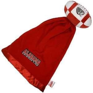 Alabama Crimson Tide NCAA Baby Security Blanket w/ Snuggle Ball