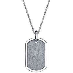 Two tone Stainless Steel Mens Dog Tag Necklace