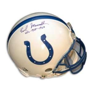 Earl Morrall Indianapolis Colts Autographed Pro Helmet with 1968 NFL