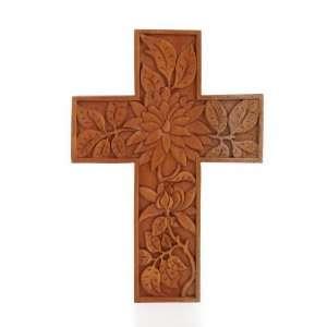 Patra Exotic Leaves Cross Carving~Wall Decor Art~Bali