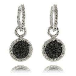 Sterling Silver Black Diamond Accent Dangle Earrings